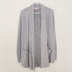 Loft XL Open Front Long Sleeve Cardigan Sweater